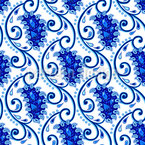 Paisley Porcelain Seamless Vector Pattern Design