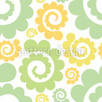 Spirals In Spring Seamless Vector Pattern Design