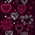 I See Hearts Seamless Vector Pattern Design