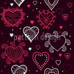 Ich Sehe Herzen Nahtloses Vektormuster