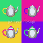 Pop Art Pots Seamless Vector Pattern Design