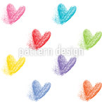 Fading Hearts Pattern Design