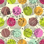 Cup Cake Fantasies Repeating Pattern