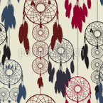 The Dream Catchers Seamless Vector Pattern Design