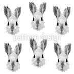 Bunny Most Wanted Seamless Vector Pattern Design