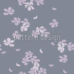 Cherry Blossoms In The Wind Seamless Vector Pattern