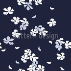 Cherry Blossoms At Night Vector Pattern