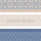 Borda do círculo Design de padrão vetorial sem costura
