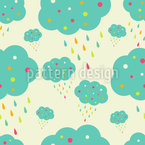 Dotted Clouds  Seamless Vector Pattern Design