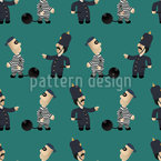 The Policeman And His Convict Pattern Design