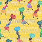 African Women  Seamless Vector Pattern Design
