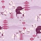 Kirschblüten Geisha Lila Rapport