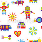 Colorful Tack Zap Seamless Vector Pattern Design
