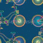 Skurrile Fahrräder Nahtloses Vektormuster