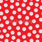 Striped Polkadots Seamless Vector Pattern Design