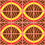 Ethno Behind Bars Seamless Vector Pattern Design