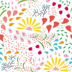 Enchanting Bloom Seamless Vector Pattern Design