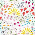 Zauberhafte Blüte Nahtloses Vektormuster