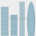 The Skyscrapers Of The Blue City Seamless Vector Pattern Design