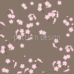 Cherryblossoms Brown Seamless Vector Pattern Design