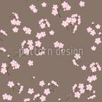 Kirschblütenzweige Braun Musterdesign