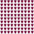 My Queen Of Hearts Vector Pattern