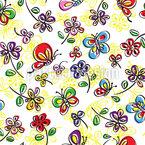 Schmetterling Freude Nahtloses Vektormuster