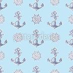 Anker Und Steuerräder Muster Design
