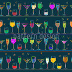 Cocktails Seamless Vector Pattern Design