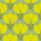 Blooming Cornelian Cherries Seamless Vector Pattern Design