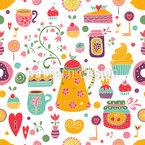 Süße Freude Nahtloses Vektormuster
