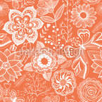 Summer Garden Afterglow Seamless Vector Pattern Design