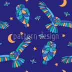 Owls At Night Vector Design