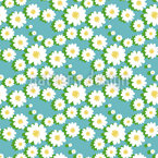 Daisy Garlands Seamless Vector Pattern Design