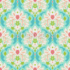 Damask Of Summer Seamless Vector Pattern Design