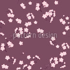 Cherry Blossoms Mauve Seamless Vector Pattern Design