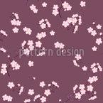 Kirschblüten Mauve Nahtloses Vektormuster
