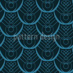 Peacock Feathers Deco Seamless Vector Pattern Design