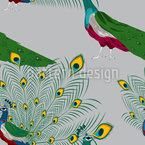 Peacock Show Seamless Vector Pattern Design