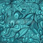 Fantasie Blumen Unter Wasser Musterdesign