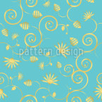 A Sky Full Of Gold Flowers Seamless Vector Pattern Design