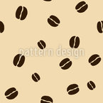 Coffee Beans Seamless Vector Pattern Design
