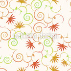 Magical curls flowers Vector Design