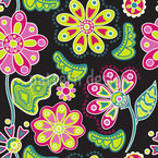 Night Flower Folklore Pattern Design
