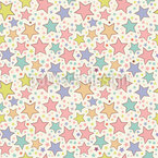 Magic Stars Seamless Vector Pattern Design