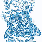 Fantasie Garten Bordüre Nahtloses Vektor Muster