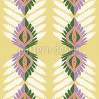 Vertikale Ethno Blätter Nahtloses Vektormuster