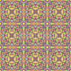 Florales Kaleidoskop Vektor Muster