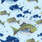 The North Sea Fish Seamless Vector Pattern Design