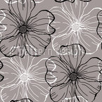 Mallow Flowers Seamless Vector Pattern Design